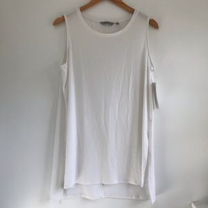 NEW Athleta side split tank white large